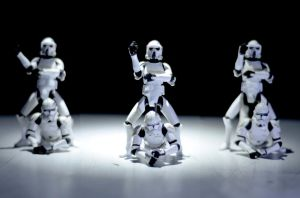 Stormtroopers gangnam style by abomontage