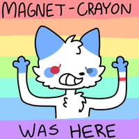 Magnet-crayon was here by plumcats