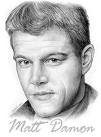 Matt Damon by gregchapin