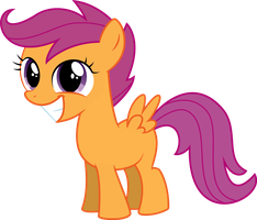 Scootaloo Smiling by SpenceTheNewbie