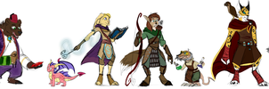 Spyro Characters: Allies by kittin12376