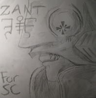 Zant Hand Drawing by TornDragon