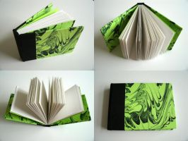 Green and Black Marbled Book by MyFebronia