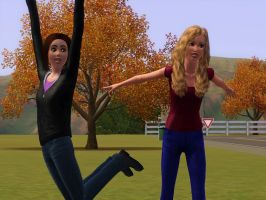 Sims Request: Bethela and her sister by LAngel2