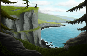 Cliffs by cinnamon-sheep