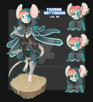 Rat thief adoptable auction (SOLD TY) by Mikkynga