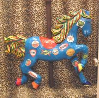 Gas Sign Horse Paper-mache by carouselfan