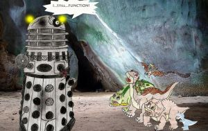 Land before time gang and a dalek part 2 by Animedalek1