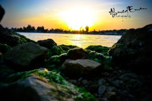 Sunset at Suez Canal by Ahmed-Emam