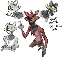 Foxy Sketches by Hecatta