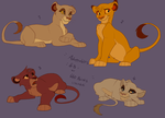 More Lion King cub adoptables -ALL GONE- by Kitchiki