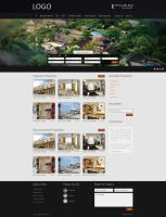 Real Estate website Black Them by fahadnaeem