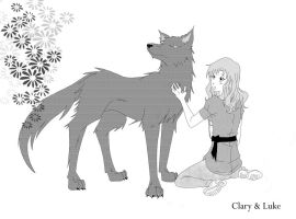 _MI:Clary and Werewolf Luke_ by Aeris1990