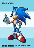 Sonic Channel Colouring Page by Ziggyfin