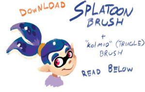 Splatoon Brush by TamarinFrog