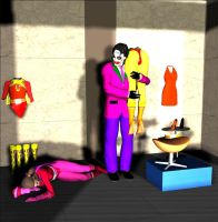 THE JOKER VS ELECTRAWOMAN AND DYNAGIRL by MASTEFER
