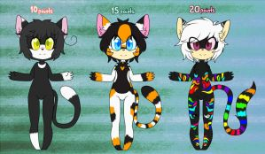 3# Adoptables cats by Gaby-Kagamine-cat