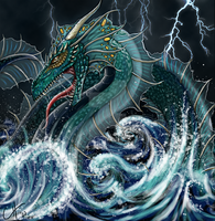 Sea Monster by corpsewraith