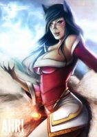 LEAGUE OF LEGENDS : AHRI ~ by JaysonRevenge