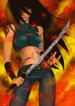 Kickass girl by Bloodhaunt