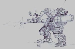 Russian Medium Infantry Support Mech ' Kisten by fed0t