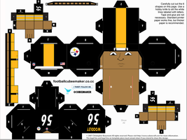 LaMarr Woodley Steelers Cubee by etchings13
