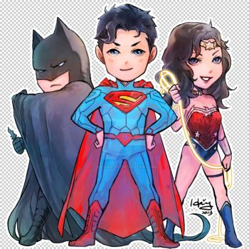 NEW 52 Trinity by Haining-art