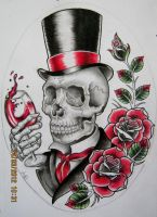 Gentleman Skull Design by Frosttattoo