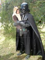 Vader and ewok baby by V-kony