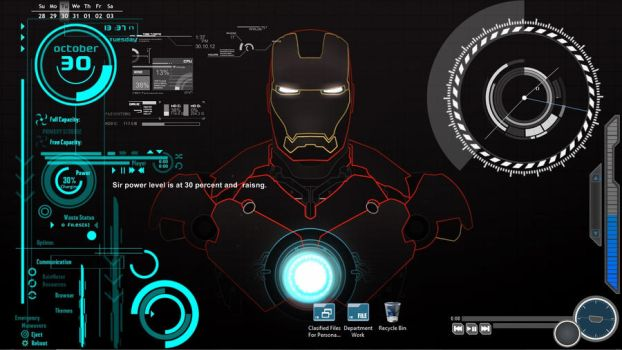 Iron Man desktop by PrinceOFThunder