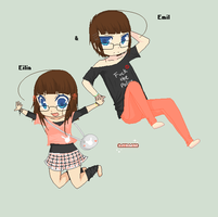 : Eilin and Emil - New ID : by Nimmiii-tan