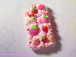 Strawberry Decoden iPhone Case with TUTORIAL by kpossibles