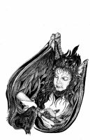 Animal Rescue Angel (Incomplete Stage-Larger View) by ice-queen-blue