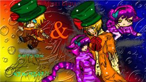 Cat and Hatter wishing you a early happy holidays by R-E-D-13