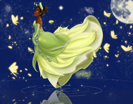 Tiana under the stars by VPdessin