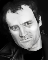 David Hewlett-Rodney McKay B+W by WolfenM