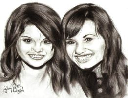 Selena Gomez and Demi Lovato by gerd324