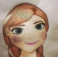 Anna From Frozen by sweetmanillagirl