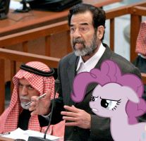Saddam Hussein And 'Grumpy' Pie by RicRobinCagnaan