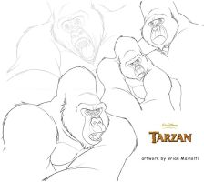 Kerchak from Disney's Tarzan by BrianMainolfi
