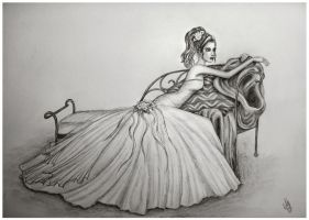 wedding gown by NinaHoerz
