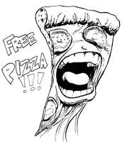 Free pizza by mistermuck