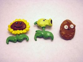 Plants vs zombies brooches 1 by jinxedtarotcard