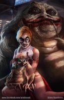 Slave Harley and Joker The Hutt by pinkhavok
