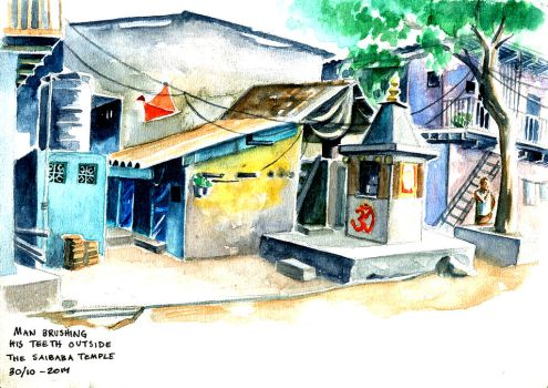 Dharavi Watercolour by yohunny