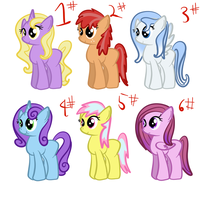 FREE pony adopts 2!(sold out) by MoonShardDragon