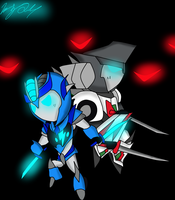TFP:: Chibi Wheeljack and Chibi Lightning by ToniMizukiPrime