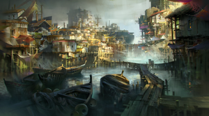 Water town by IvanLaliashvili