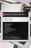 Minimal Electro Flyer by isoarts2