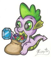 Spike traditional art by Xcoqui